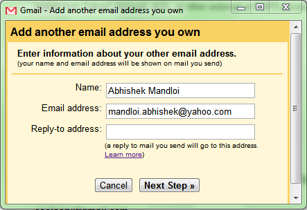 Gmail - Add another email address