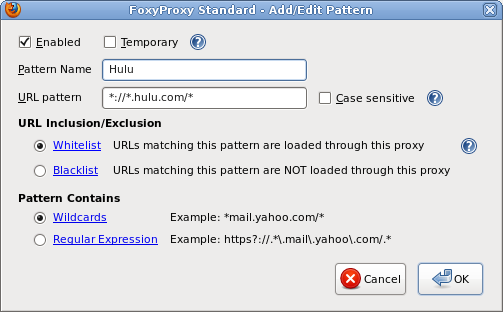 Edit proxy pattern based on URL