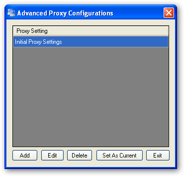 Change proxy in IE