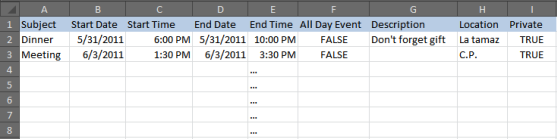 How to import a CSV file to Google Calendar
