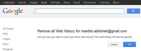 Remove Google History