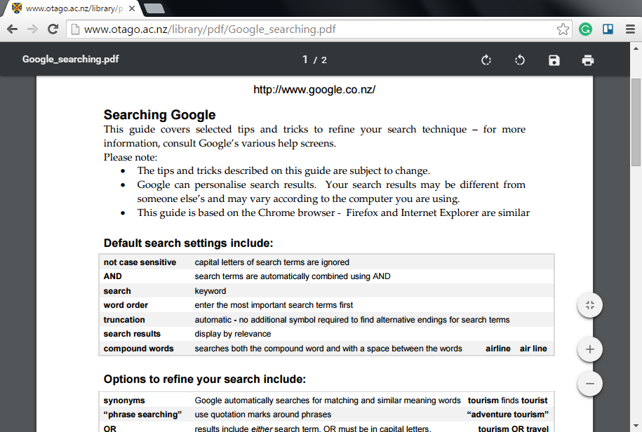 PDFs in Google Chrome
