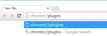 open plugins in Chrome