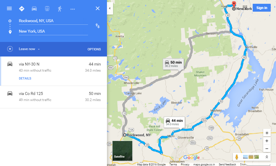 Google Maps Route