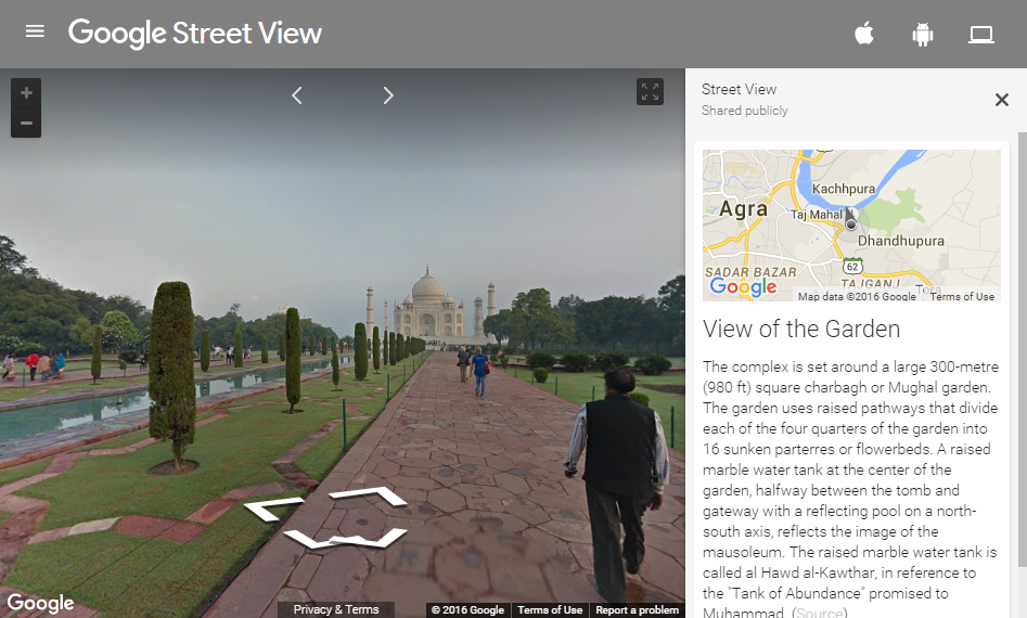Street View in Taj Mahal Agra