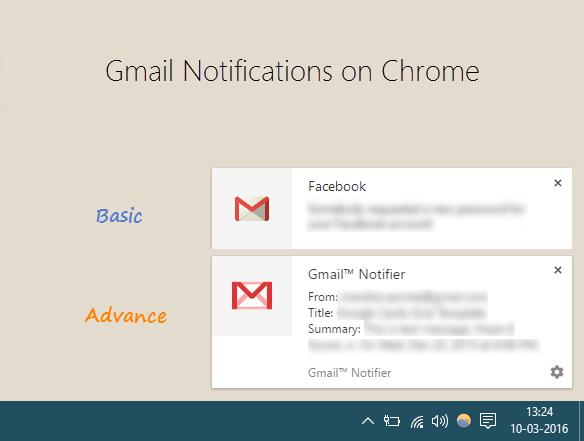 Basic and advance notifications - Gtricks