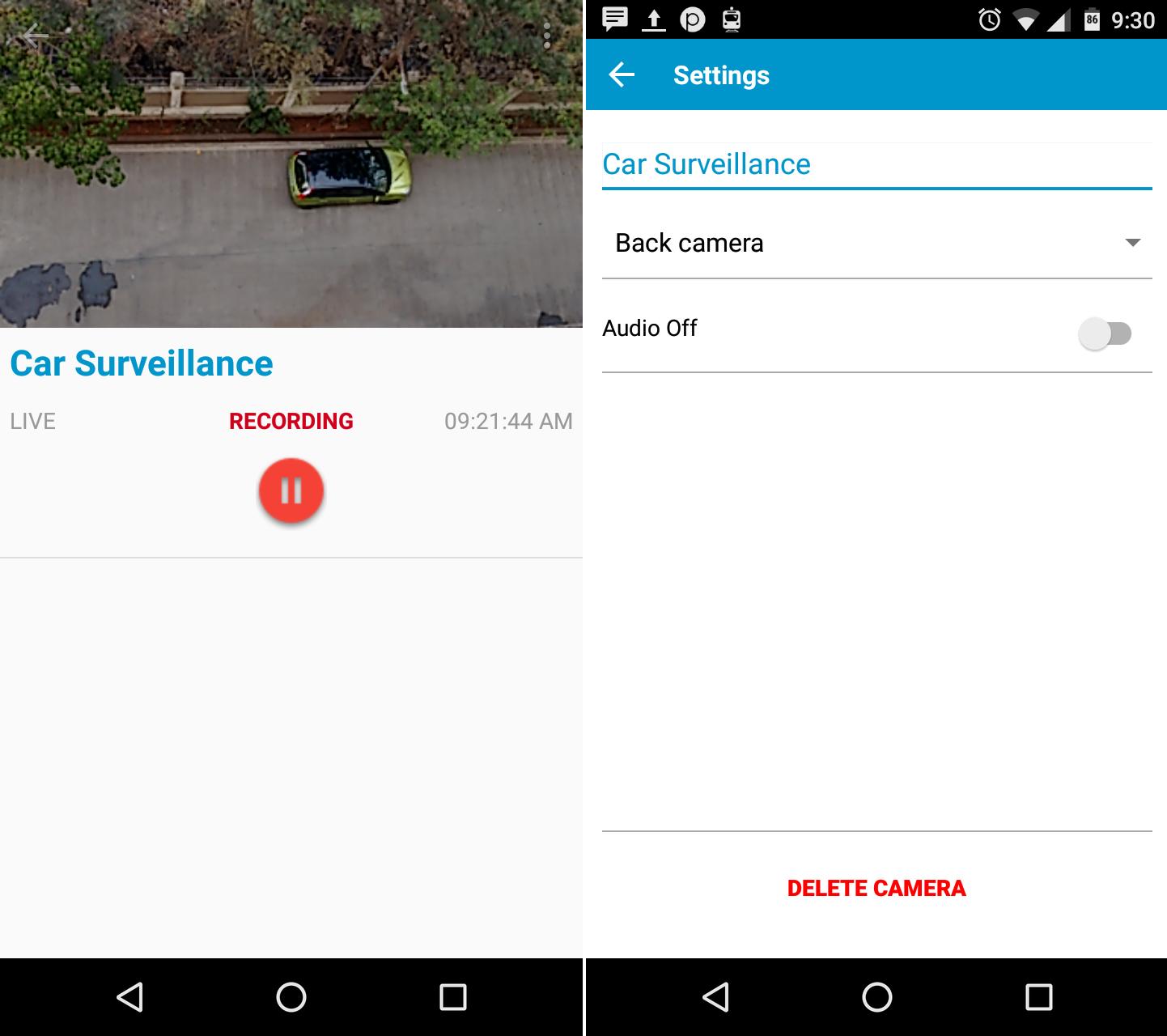 using Perch as Security Camera