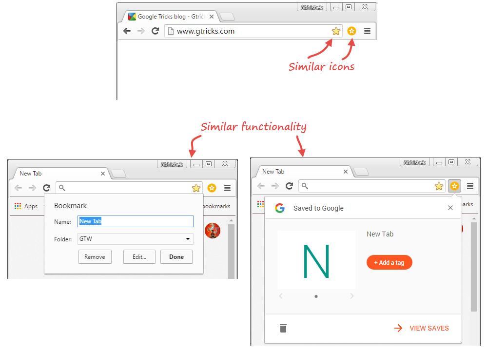 Chrome Bookmarks vs Save Extension