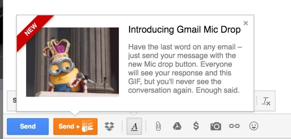 new button in gmail