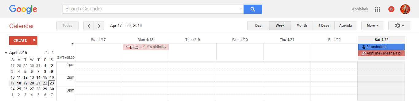 Google Calendar's Current Design