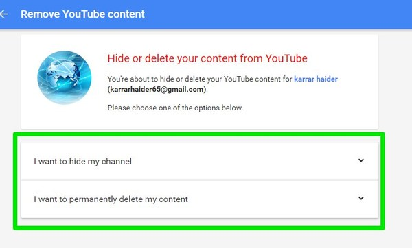 How To Hide or Delete YouTube Channel