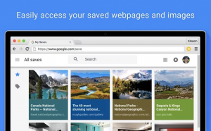 save to google:easily access your saved webpages and images