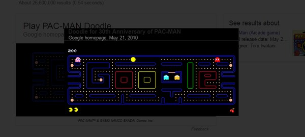 google-search-tricks-pacman