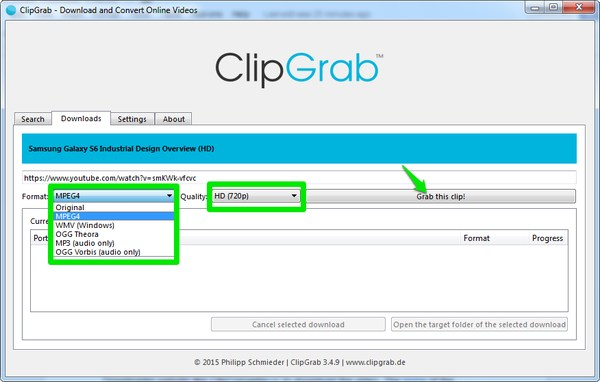 download-youtube-videos-clipgrab