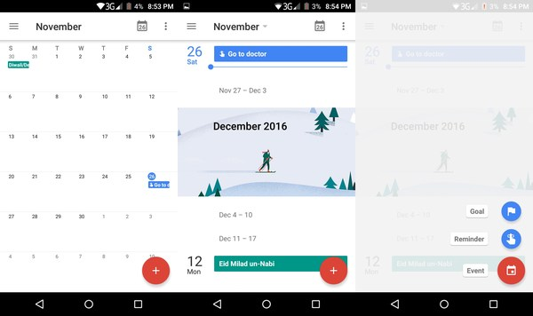 how to see google calendar on android