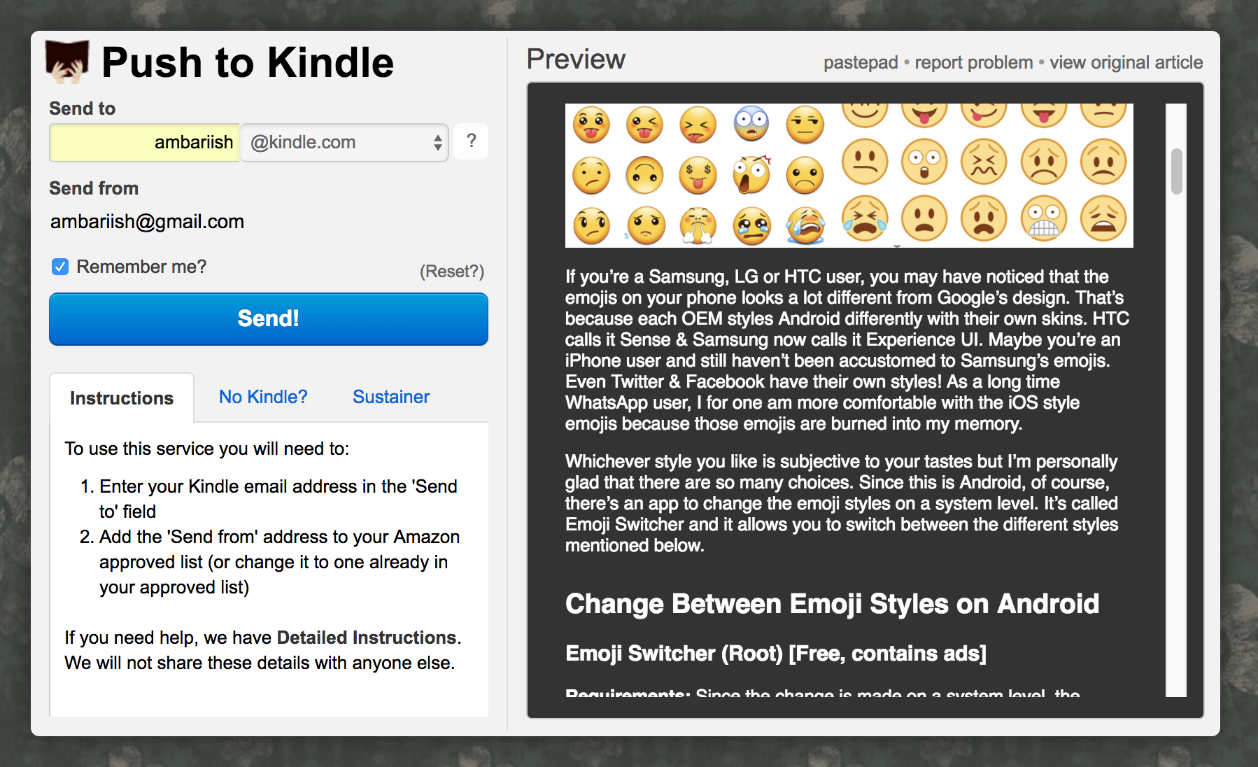 How to Send Articles & PDFs from Android or PC to Amazon Kindle
