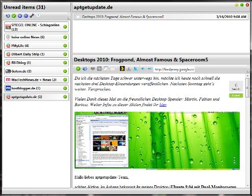 Desktop Google Reader software