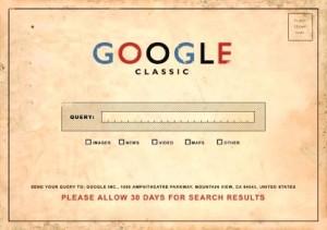 google classic postcard