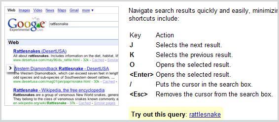 Keyboard google search experiment