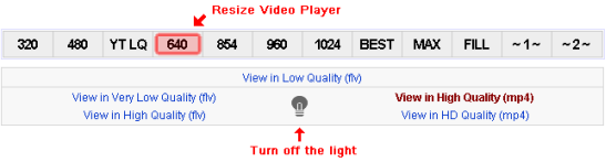 Youtube enhancer resize video options