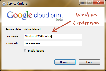 Programme d'installation de Google Cloud Service