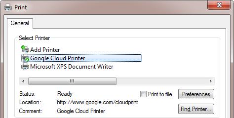 pilote windows pour imprimante cloud